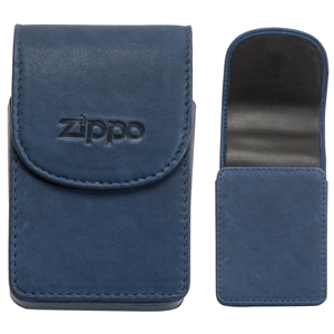 Zippo Leather Cigarette Case, Blue (Holds A Standard Pack Of 20 Cigarettes)